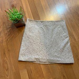 Tan Lace Knit Skirt.  Sz 6